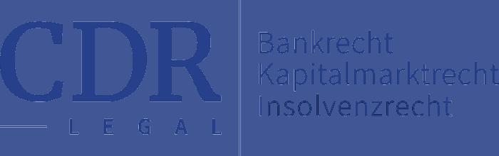 CDR Legal –Rechtsanwälte im Bereich Bankrecht, Kapitalmarktrecht und Insolvenzrecht in Rosenheim, Oberbayern Logo